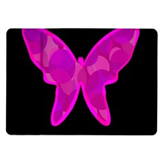 Purple butterfly Samsung Galaxy Tab 10.1  P7500 Flip Case