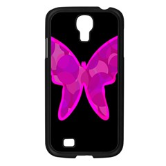 Purple butterfly Samsung Galaxy S4 I9500/ I9505 Case (Black)