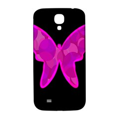 Purple butterfly Samsung Galaxy S4 I9500/I9505  Hardshell Back Case