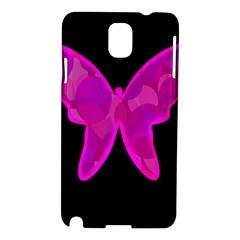 Purple butterfly Samsung Galaxy Note 3 N9005 Hardshell Case