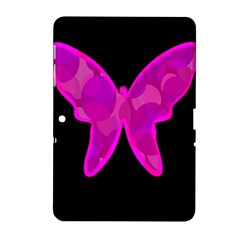 Purple butterfly Samsung Galaxy Tab 2 (10.1 ) P5100 Hardshell Case