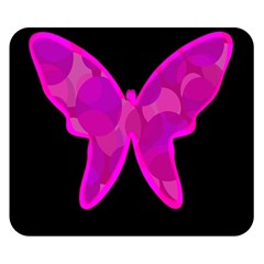 Purple butterfly Double Sided Flano Blanket (Small)