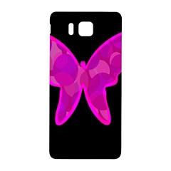 Purple butterfly Samsung Galaxy Alpha Hardshell Back Case