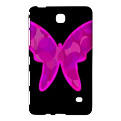 Purple butterfly Samsung Galaxy Tab 4 (7 ) Hardshell Case