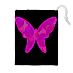 Purple Butterfly Drawstring Pouches (extra Large)