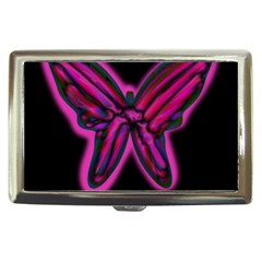 Purple neon butterfly Cigarette Money Cases