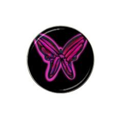 Purple neon butterfly Hat Clip Ball Marker