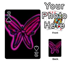 Purple neon butterfly Playing Cards 54 Designs