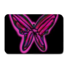 Purple neon butterfly Plate Mats