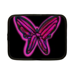 Purple neon butterfly Netbook Case (Small)