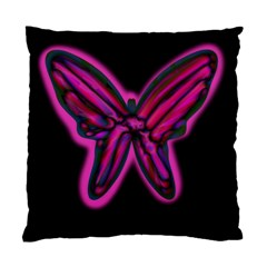 Purple neon butterfly Standard Cushion Case (Two Sides)