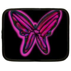 Purple neon butterfly Netbook Case (XL)