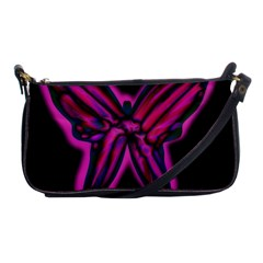 Purple neon butterfly Shoulder Clutch Bags
