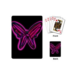 Purple neon butterfly Playing Cards (Mini)