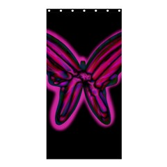 Purple neon butterfly Shower Curtain 36  x 72  (Stall)