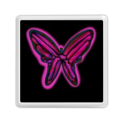 Purple neon butterfly Memory Card Reader (Square)