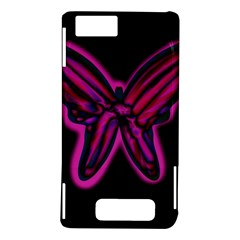 Purple neon butterfly Motorola DROID X2