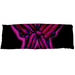 Purple neon butterfly Body Pillow Case Dakimakura (Two Sides)