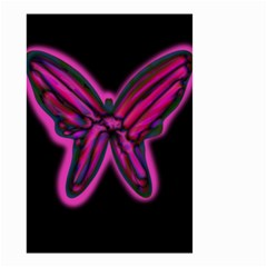 Purple neon butterfly Small Garden Flag (Two Sides)