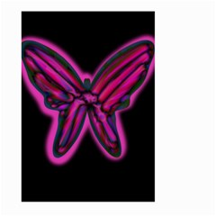 Purple neon butterfly Large Garden Flag (Two Sides)