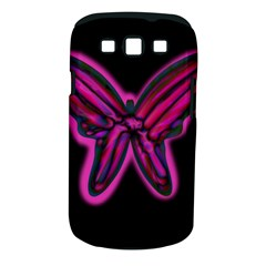 Purple neon butterfly Samsung Galaxy S III Classic Hardshell Case (PC+Silicone)