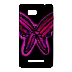 Purple neon butterfly HTC One SU T528W Hardshell Case