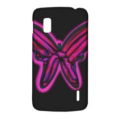 Purple neon butterfly LG Nexus 4
