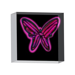 Purple neon butterfly 4 x 4  Acrylic Photo Blocks