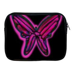 Purple neon butterfly Apple iPad 2/3/4 Zipper Cases