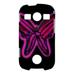 Purple neon butterfly Samsung Galaxy S7710 Xcover 2 Hardshell Case