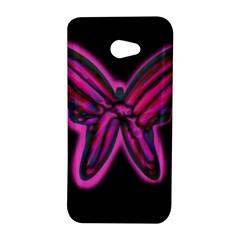 Purple neon butterfly HTC Butterfly S/HTC 9060 Hardshell Case