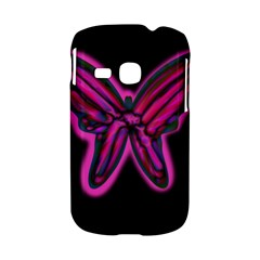 Purple neon butterfly Samsung Galaxy S6310 Hardshell Case