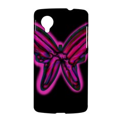 Purple neon butterfly LG Nexus 5