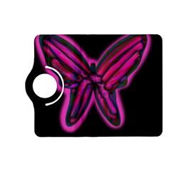 Purple neon butterfly Kindle Fire HD (2013) Flip 360 Case