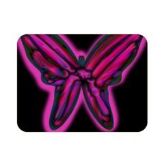 Purple neon butterfly Double Sided Flano Blanket (Mini)