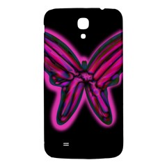 Purple neon butterfly Samsung Galaxy Mega I9200 Hardshell Back Case