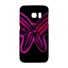 Purple neon butterfly Galaxy S6 Edge