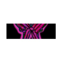Purple neon butterfly Satin Scarf (Oblong)