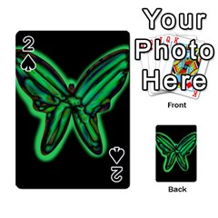 Green neon butterfly Playing Cards 54 Designs
