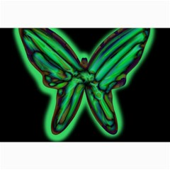 Green neon butterfly Collage Prints