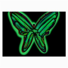 Green neon butterfly Large Glasses Cloth (2-Side)