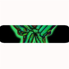 Green neon butterfly Large Bar Mats