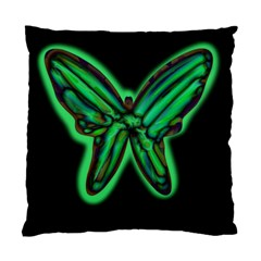 Green neon butterfly Standard Cushion Case (Two Sides)