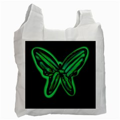 Green neon butterfly Recycle Bag (Two Side)
