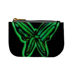 Green neon butterfly Mini Coin Purses
