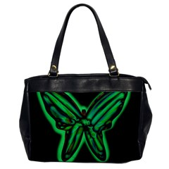 Green neon butterfly Office Handbags