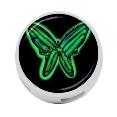 Green neon butterfly 4-Port USB Hub (One Side)