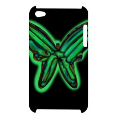 Green neon butterfly Apple iPod Touch 4