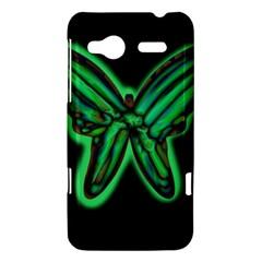 Green neon butterfly HTC Radar Hardshell Case