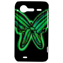 Green neon butterfly HTC Incredible S Hardshell Case